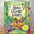 Grã-bretanha Original Inglês 3D Flip Book Howthings Trabalhar A Educação para Crianças Com mais de 90 abas para levantar a ver o interior