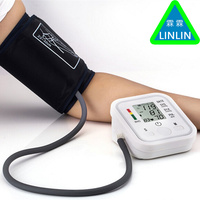 LINLIN Home Health Care Digital Lcd Upper Arm Blood Pressure Monitor Heart Beat Meter Machine Tonometer for Measuring Automatic