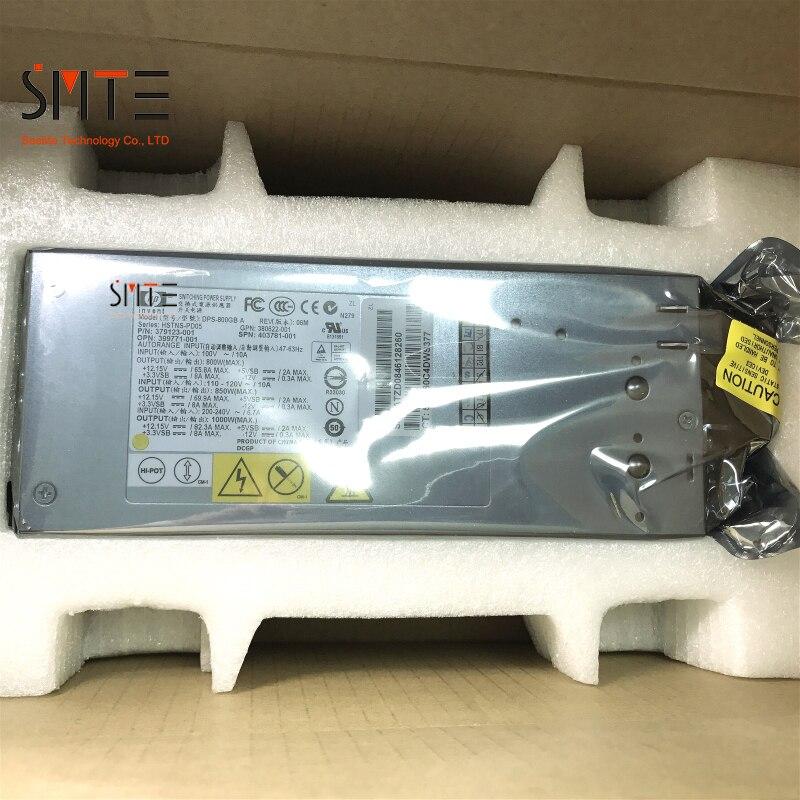DPS 800GB SPN: 403781 001 P/N: 379123 001 GPN: 380622 001 OPN: 399771 001 800 W 12 V 80A 47 62Hz pour DL380G5 Deuxième Main 90% Nouveau