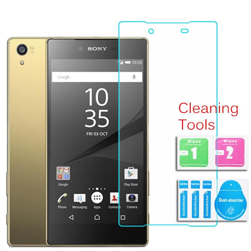 Für Sony Xperia Z5 Premium Dual Displayschutzfolie aus gehärtetem Glas 0,26 mm 2,5 9 h Sicherheitsschutzfolie auf E6833 E6853 E6883