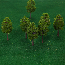 20Pcs Model Trees Train Scenery Landscape Scale 7/9cm Plastic Architectural Model Supplies Building Kits Brinquedos for Children(China)