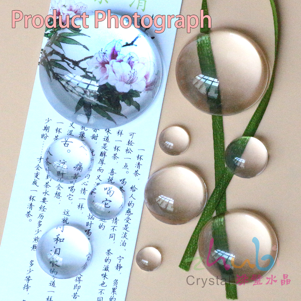 Flower Glass Cabochon Time Gem DIY Hemispherical Round For Jewelry Making