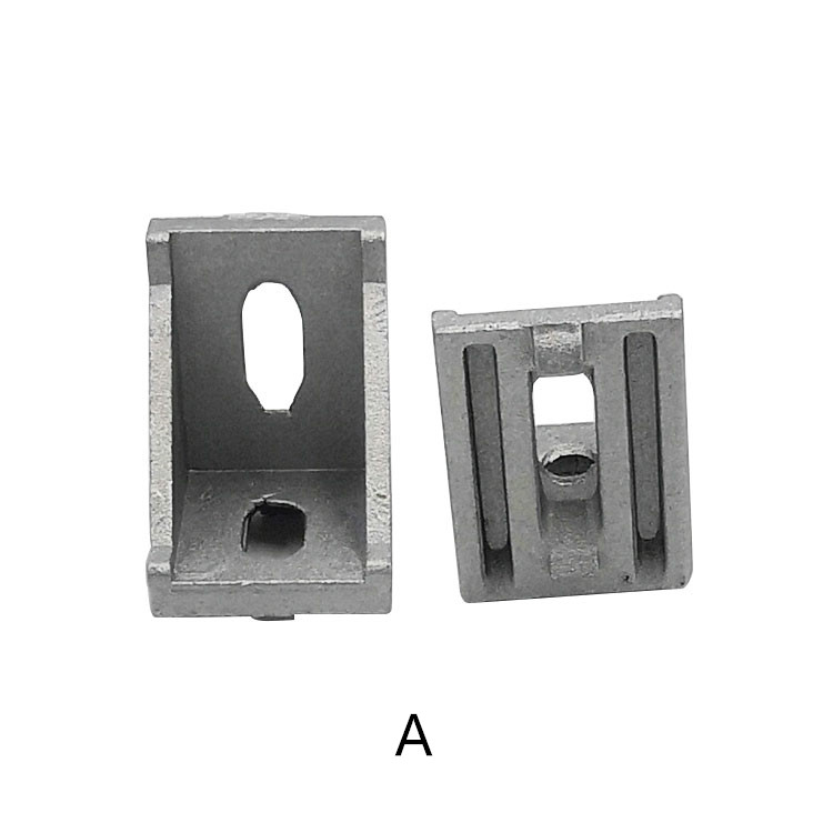 L corner connector for 3030 series aluminum extrusion profile with 8 mm slot 6 pieces Angle arbitrary support set