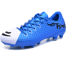 Boys Soccer Shoes Long Spikes Outdoor Lawn Kids Sneakers Cleats Turf Football Shoes Sports Children Trainers Shoes Foot Students