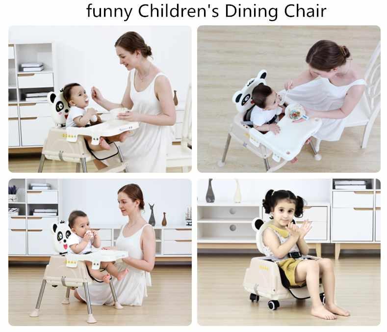 คุณภาพสูง Enfant เด็กเก้าอี้เด็กเก้าอี้รับประทานอาหาร Multifunctional ปรับความสูงเด็กเก้าอี้ความปลอดภัยเด็กโต๊ะเก้าอี้