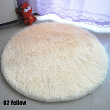 Nuevo de alta calidad de textiles para el hogar 80-160 cm mullido ronda de espuma alfombra antideslizante dormitorio felpudo floor carpet alfombra redonda #236101