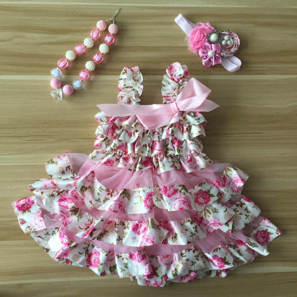 2016 new Fashion Newborn girl summer dress Infant Dresses Baby Baptism Dresses Baby Ruffle Chiffon Lace Lovely Chic Dress