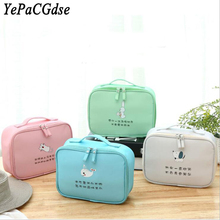 New travel portable polyester cosmetic bag cartoon cute large-capacity makeup storage organizer
