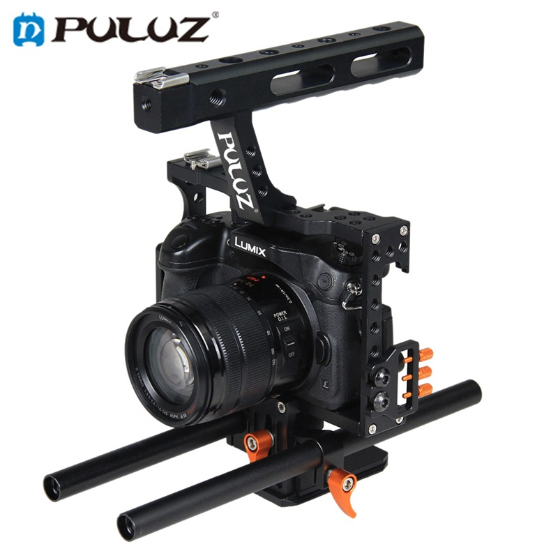 PULUZ PU3010 Camera Cage Handle Stabilizer for Sony A7 A7S A7R A7R II A7S II for Panasonic DMC-GH4 цена