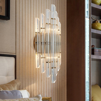 2018 Modern Creative Gold Hardware Wall Lamps Luxury LED Crystal Sconce For Living Room Corridor Bedroom Hanging Indoor Lamp