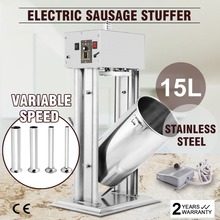 ЕС 15L 33LBS Электрический начинщик колбасы заглушка производитель коммерческий набивка большой