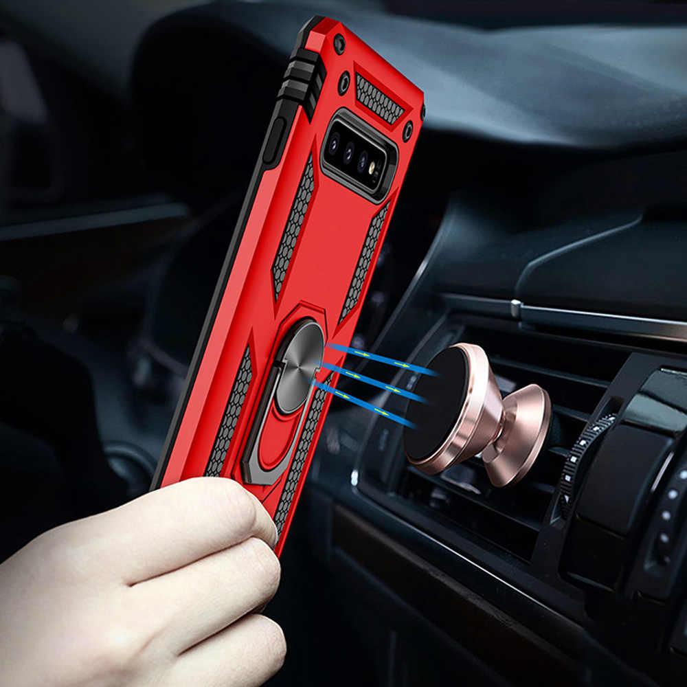 OTAO кольцо держатель чехол для samsung Galaxy S10 S9 S8 Plus S10e A7 A6 A8 J5 J7 автомобильный Магнитный чехол Броня ударопрочный чехол для Note 8 9