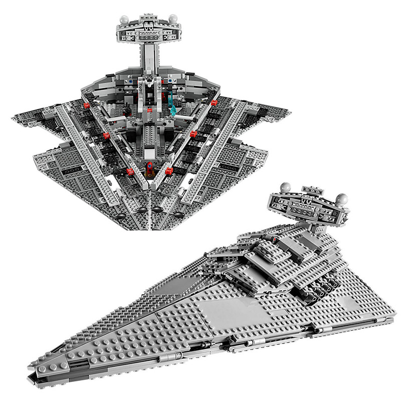 Lepin 05062 Star Series War The Super Star Imperial Star Destroyer Educational Building Blocks 1391pcs Bricks Toy Gift 75055 05028 star wars execytor super star destroyer model building kit mini block brick toy gift compatible 75055 tos lepin