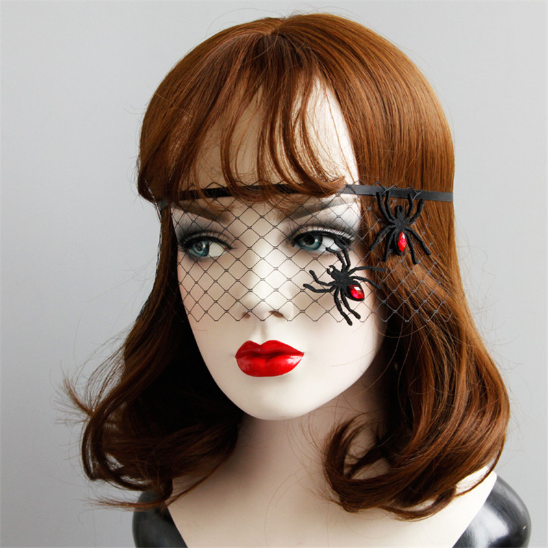Pizzo ricamato Strega Maschera Occhi Per Adulti Donna Halloween Fancy Dress