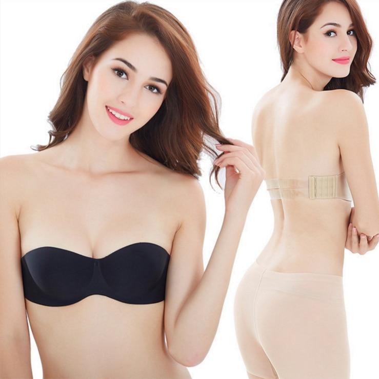 Women seamless invisible Bras Push Up wire Free Women's Intimates Bra Strapless Non-slip Ladies Female Brassiere Underwear