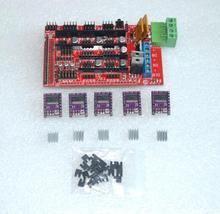 3D Printer RAMPS 1.4 control panel printer Control Reprap MendelPrusa + 5pcs DRV8825 Stepper Motor Drive Carrier Reprap