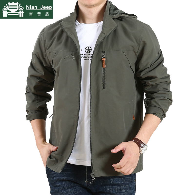 Men Outwear Thin-Jackets Spring Army Quick-Drying Waterproof Casual New Liner Mush Loose