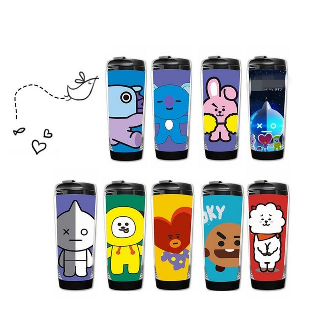 Home Double Aliexpress Clothing Style Bts amp; Coffee Bottle Kpop Sweatshirts Hoodies Bangtan From Alibaba com On Boys Club Image Fans Women's Layer Cup-in Group Steel Mug Tea Harajuku Drinkware Stainless