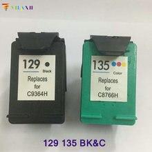 Printer Cartridge for HP 129 Black ink cartridge hp 135 Photosmart C4110 C4140 C4150 C4170 C4173 C4175 C4180 C4183 C4188