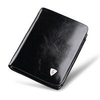 WilliamPOLO 2016 Italian Genuine Leather 3 Fold Card Holders Note Compartment Short Coin Purse POLO138
