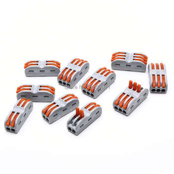 100PCS Fast Terminals For Connection Of Wires Lamps And Lanterns wire Connector SPL-3/222-413 SPL-2/222-412 Assortment Kit