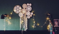 Free Shipping Dream Catcher Set With Led Light Strings Decorated Handmade Ins Room Wall Art Shabby Chic Nursery Room Hangings