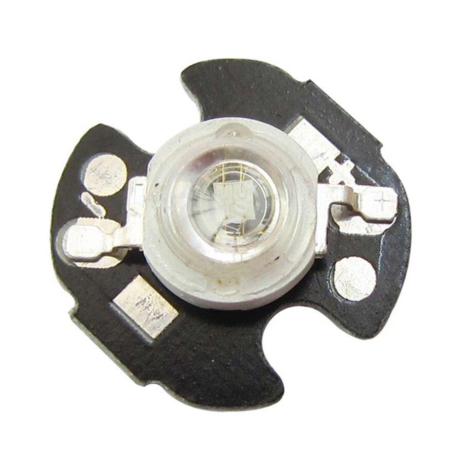 10 шт./лот 3 Вт 45mil чип Королевский синий 445 ~ 450nm LED бисера свет Излучатель с 16  ...