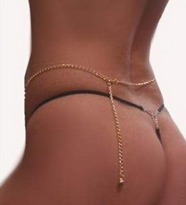 Sexy Gold Plated Body Jewelry Chain