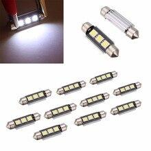 10pcs 39mm 5050 3LED Canbus Error Free Car Interior Festoon Light Bulb Doom Lamp Trunk light
