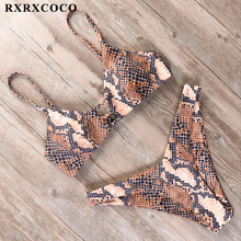 RXRXCOCO Sexy Push Up Bikini 2019 Halter Hollow Out Swimwear Women Swimsuit Solid Biquinis Beachwear Female Bathing Suit Sunbath