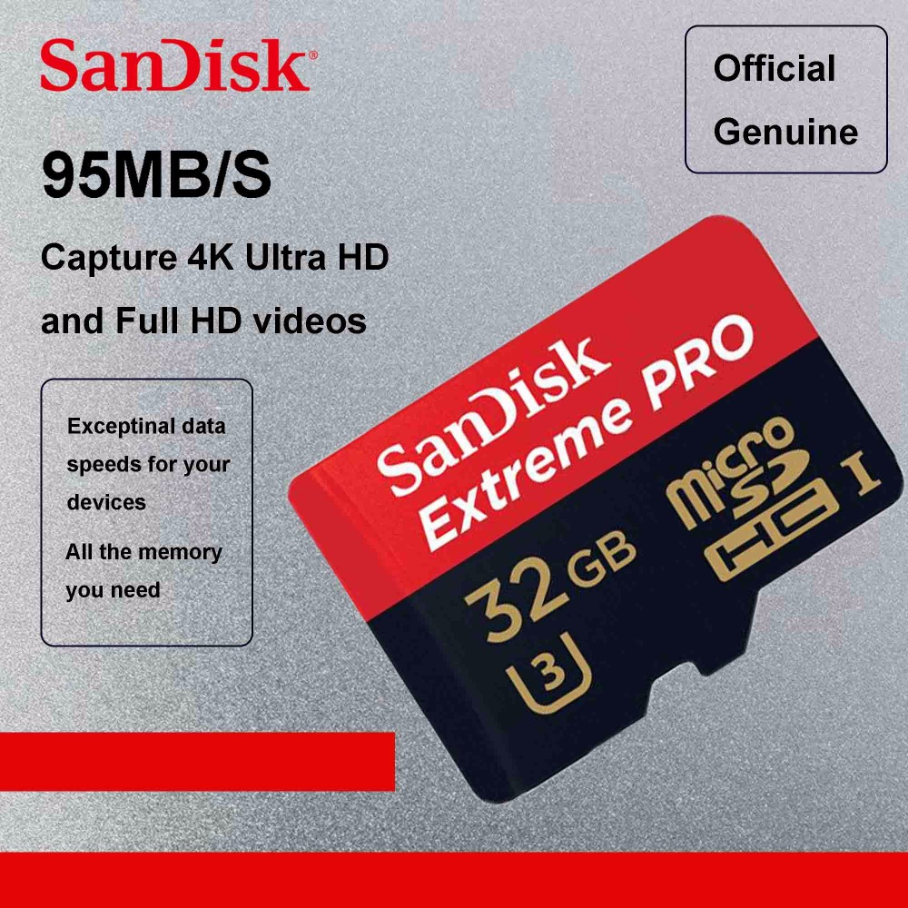 sandisk extreme pro 95mb s micro sd card 64gb class10. Black Bedroom Furniture Sets. Home Design Ideas