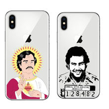 Cartoon Clear Soft Silicone TPU Coque Capa Pablo Escobar Phone Cases for iPhone X Cover for iPhone 5S 5 SE 6 6S Plus 7 8 Plus(China)