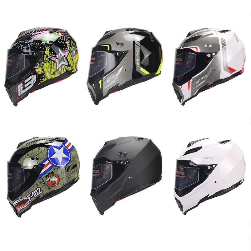 BYE Nouvelle Moto Casque Hommes casque intégral Moto Équitation ABS Matériel Aventure casque de motocross Moto DOT Certification - 2