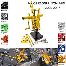 CNC Aluminum Adjustable Rearsets Foot Pegs For Honda CBR600RR NON-ABS 2009 2010 2011 2012 2013 2014 2015 2016 2017 cnc motorcycle parts rearsets foot pegs rear set for benelli bj600gs 2010 2011 2012 2013 red color