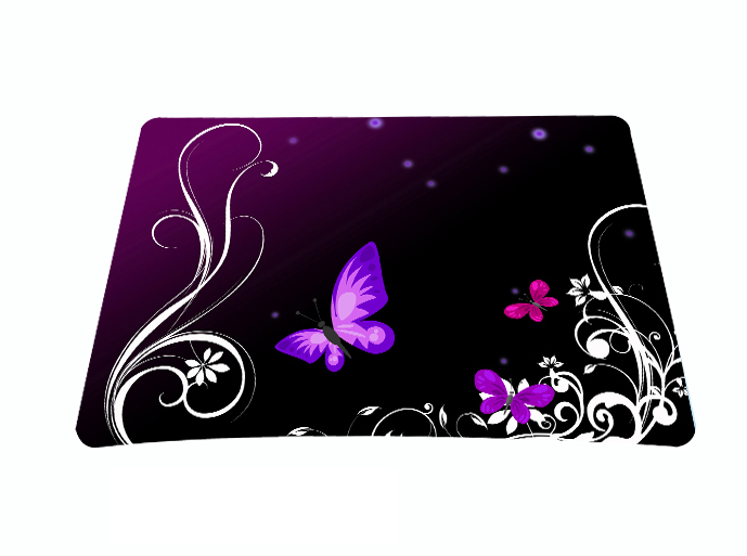 Purple Butterfly Anti-Slip Mouse Mice Pad Mat Mousepad For Optical Laser Mouse