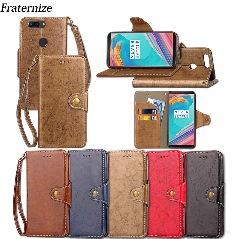Oneplus 5T Cover For Oneplus 5T A5010 Leather Case For Oneplus 5 3T 3 Case Wallet Phone Cover Retro Business Stand Card Slots