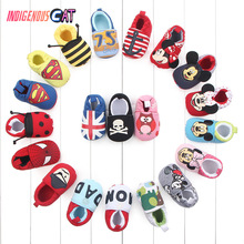 Skid-Proof Baby Shoes Soft Genuine Leather Boys Girls Infant Slippers 0-6 6-12 12-18 18-24 First Walkers