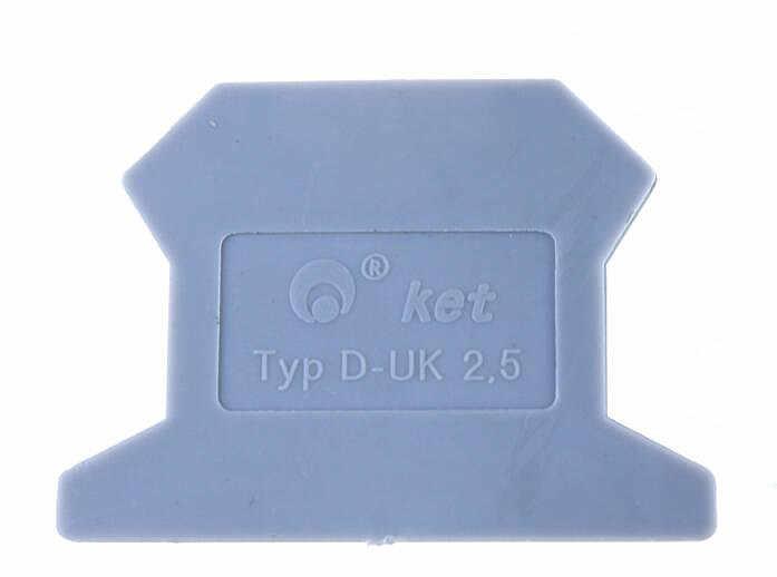 10 Pcs/lot D-UK2.5/1.5 End Plate DIN Rail Uneiversal Sekrup Jenis Blok Terminal End Cap Gratis Pengiriman Berlaku untuk UK2.5B UK1.5N
