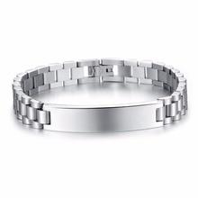 Titanium Steel Personalized Engrave Bracelets
