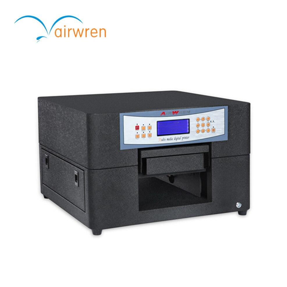 A4 Size Flatbed Digital Printing Machine Uv Led Metal Plate Inkjet Printer
