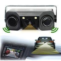 2016 New 2 In 1 LED Sound Alarm Car Reverse Backup Video Parking Sensor Radar System