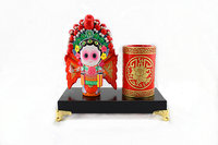 Chinese style pen holder Hua MuLan Peking Opera doll figure Traditional features gift Z002