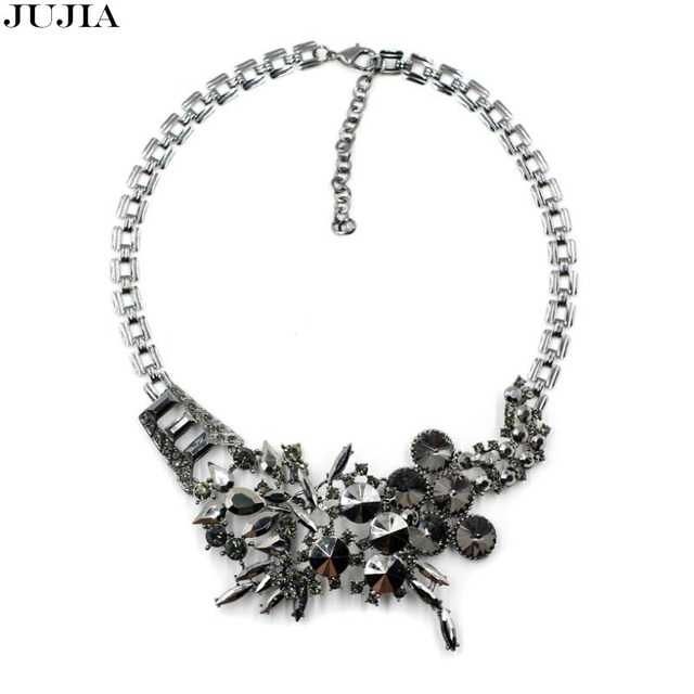 2017 NEW high quality wholesale famous brand fashion necklace collar crystal Necklaces choker bib statement necklace for women