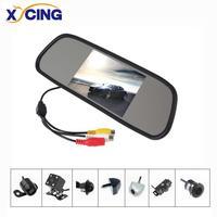 XYCING 800*480 5 Inch TFT LCD Car Monitor Parking Rear View Mirror + Wide View Angle Waterproof Night Vision Backup Camera