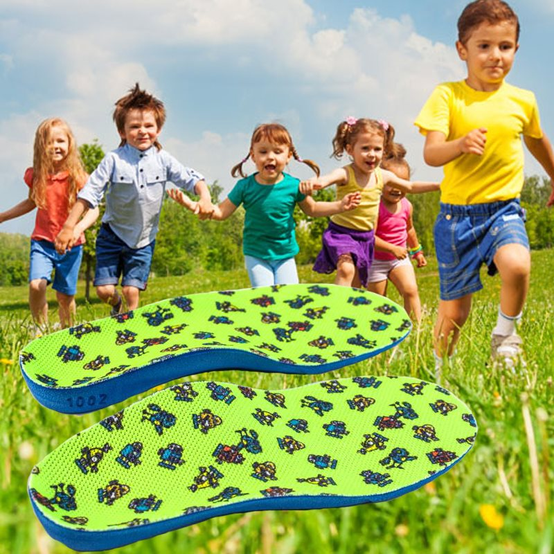 1Pair Cloth PU Kids Orthopedic Insoles, Children Shoes Flat Foot Arch Support Orthotic Pads, Correction Health Feet Care Insole children arch support orthopedic insoles flat foot orthotic cushion pads correction health feet care for children shoes insoles