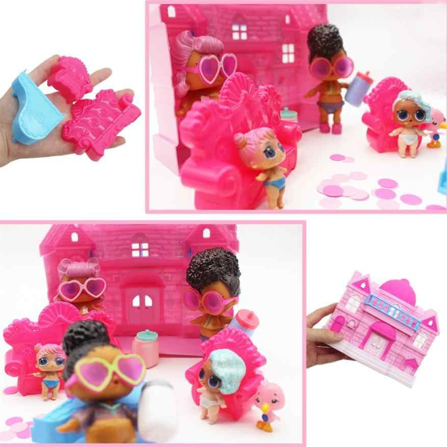 #5001 Big Pretend Play Princess Doll House Castle Toy Big Family House For Surprise Dolls
