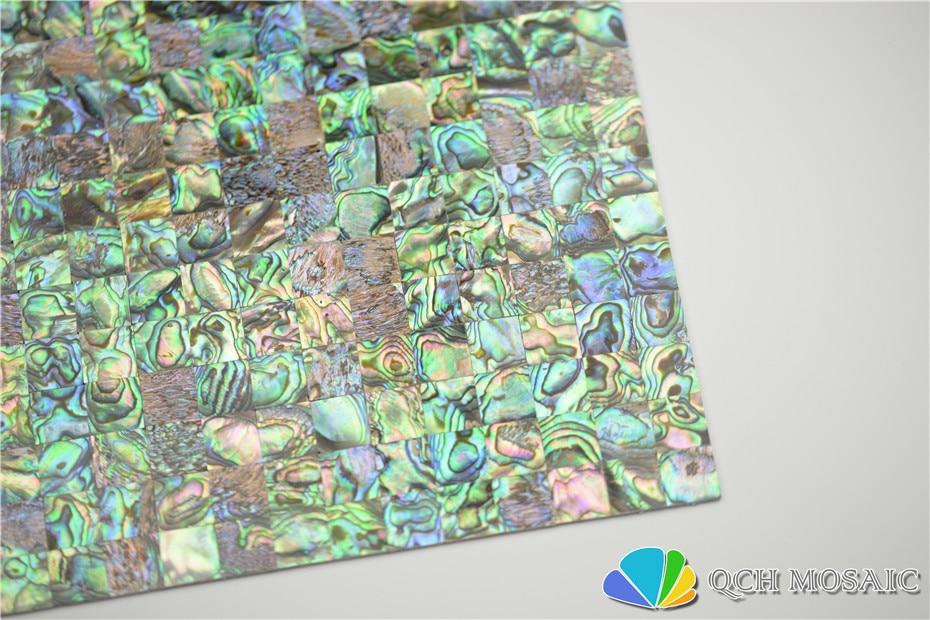 Купить с кэшбэком New Zealand abalone paua shell seamless mother of pearl mosaic tile for house decoration wall tile sea shell 5 square feet/lot