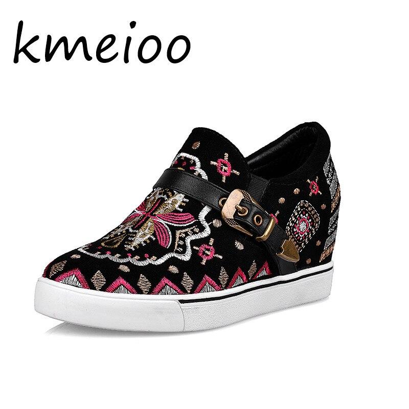 Femmes Mode Broderie up Dames Sportwear Dentelle Chaussures De Fleur Casual Bretelles Baskets Wb9E2IDHYe