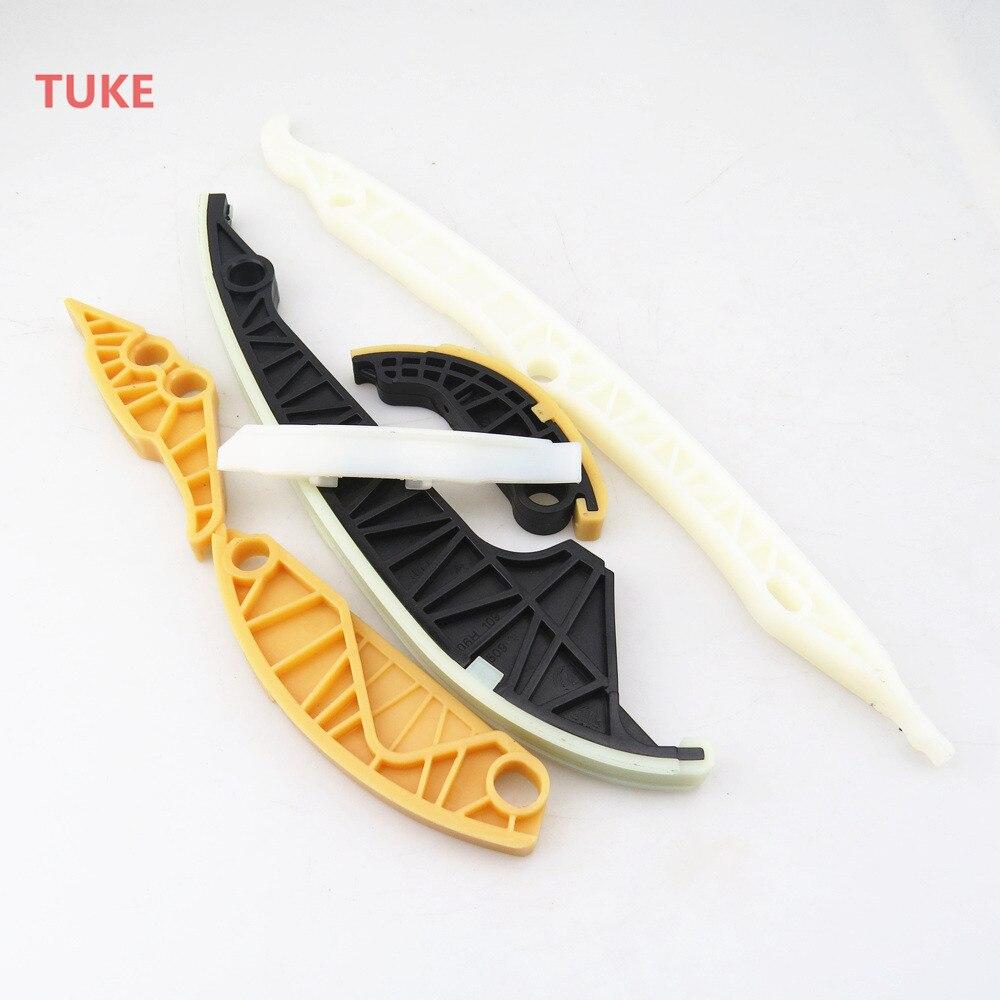 TUKE Qty 6 Engine Oil Pump Timing Chain Slider Kit For 2.0T VW Tiguan Bettle GTI Jetta 5 Passat B6 A4 A5 A6 Q5 TT 06H 109 467 N