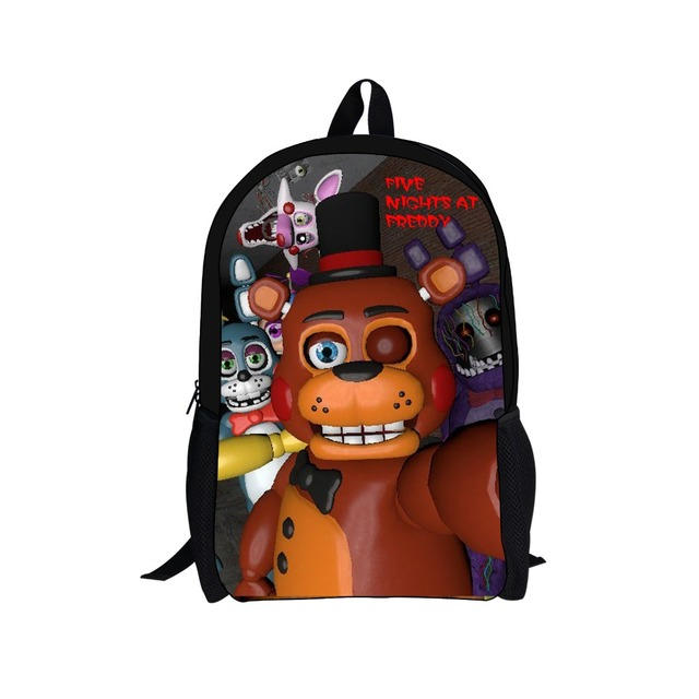 FORUDESIGNS Children Cartoon Game Printing Five Nights at Freddys Backpacks Kids Mochila School Bags for Teenager Boy Bagpack